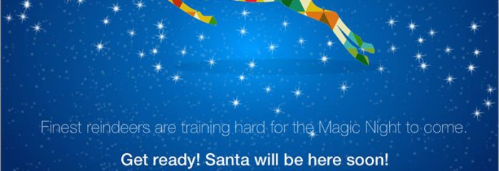 Get ready! Santa will be here soon!