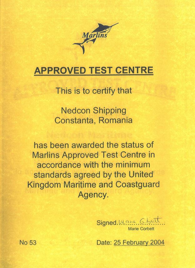 marlins approved centre - nedcon maritime